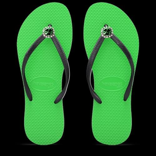 כפכפי ריבולי ירוק/שחור GREEN/BLACK