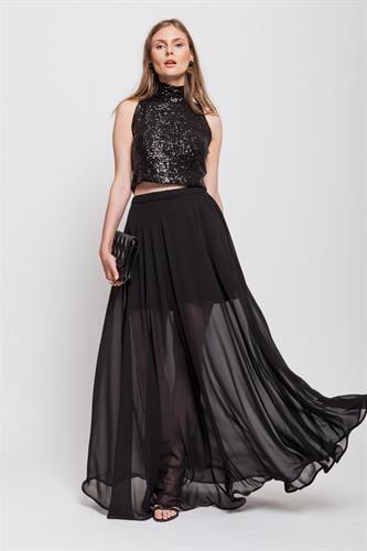 חצאית קווין  שחורה