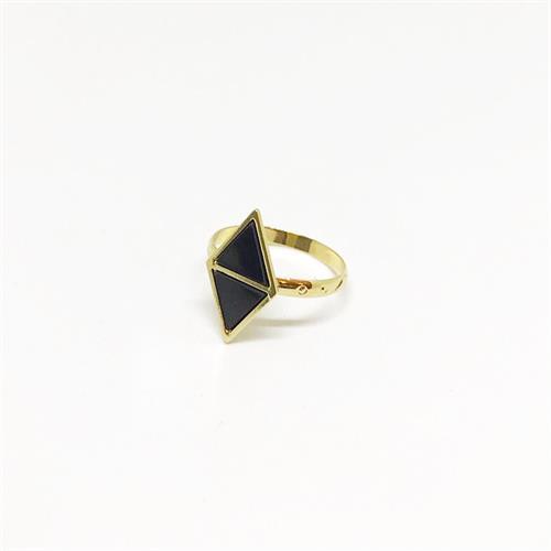 טבעת זואי זהב שחור