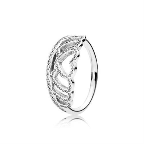 טבעת כסף פנדורה HEARTS TIARA 190958CZ
