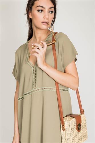 שמלת ריזורט ירוק