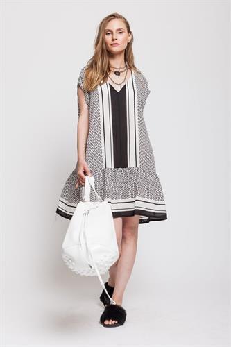 שמלת רוד שחור לבן