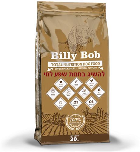 """אוכל לכלבים 20 ק""""ג Billy Bob"""