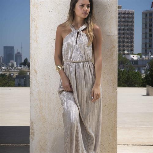 שמלת אוויטה זהב לורקס