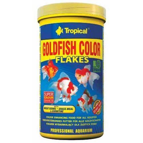 """מזון דפים עם מחזק צבע לדגי זהב 100 מ""""ל (tropical)"""