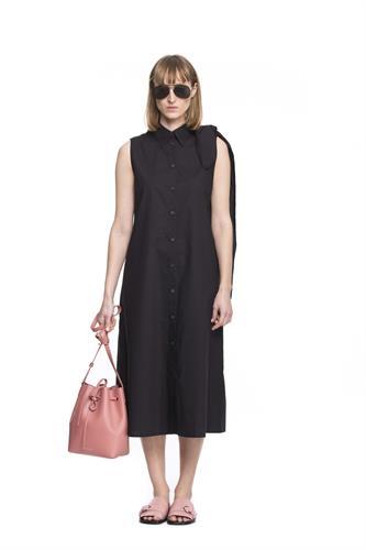 MM6 BOW BLACK DRESS