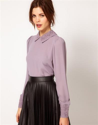 חולצת שיפון מעוצת דגם ברנדו לינט