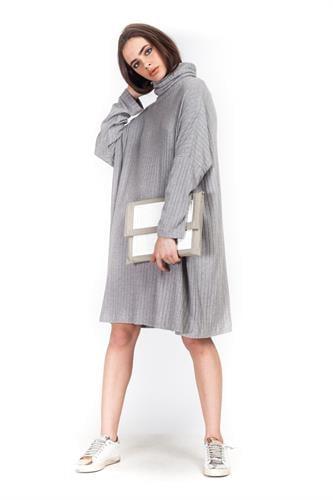 שמלה קייסי אפור בהיר