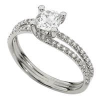 טבעת אירוסין זהב לבן | טבעת יהלומים זהב לבן