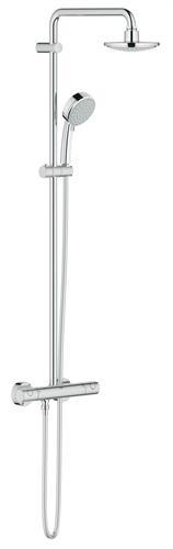 מוט פינוק משולב ברז טרמוסטטי תוצרת גרואה גרמניה 27922000