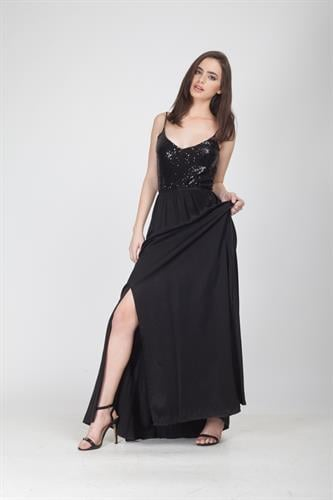 שמלת פרינסס שחורה