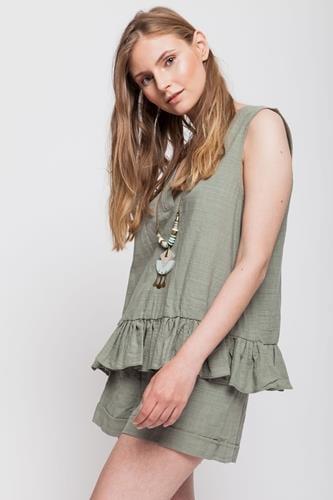 חליפת קומפורט ירוק