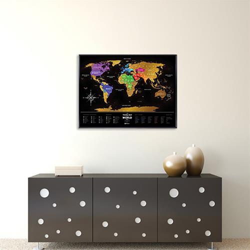 Travel Map שחור וזהב