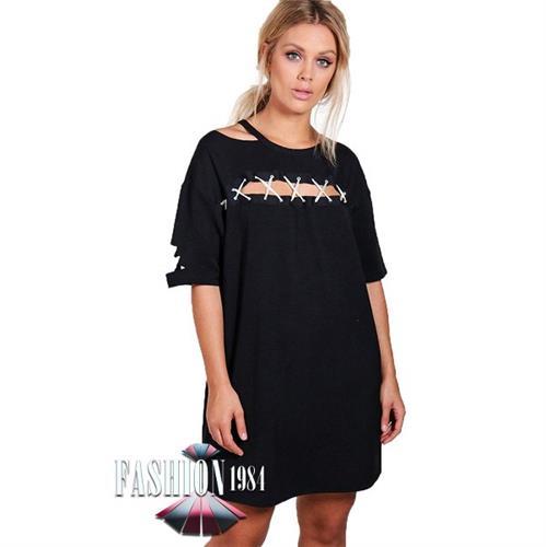 שמלה מעוצבת קרעים דגם קלואי בוייאר