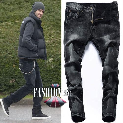 ג'ינס שחור משופשף דגם פדריקו