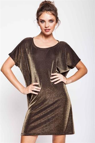 שמלת נינה ספרקל זהב