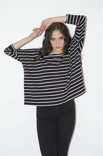 חולצת סיילור שחור