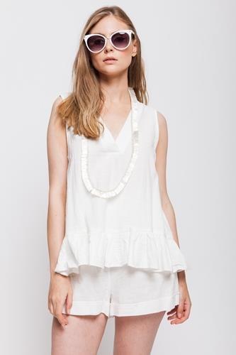 חליפת קומפורט לבנה