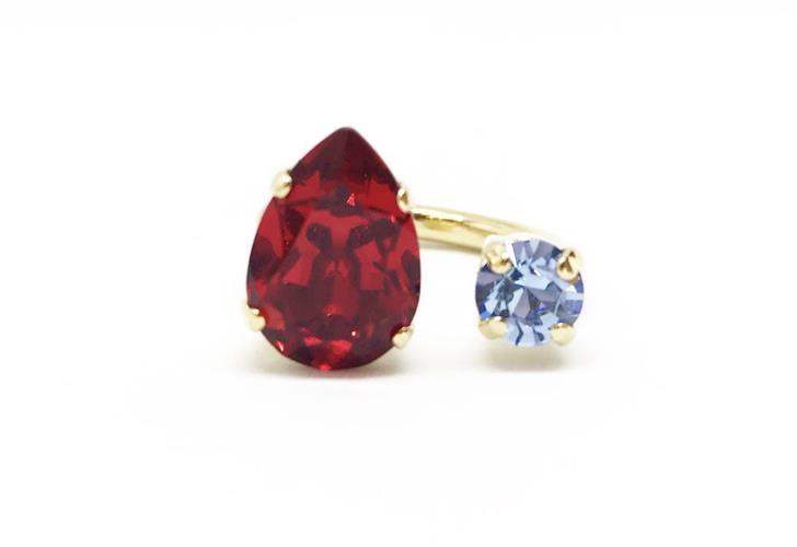 טבעת קייט אדום זהב