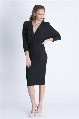 שמלת אריקה שחור נצנץ