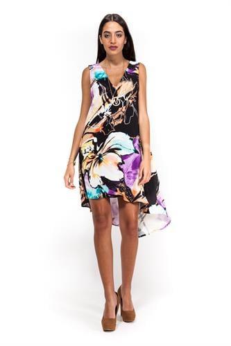 שמלת קלרה צבעונית
