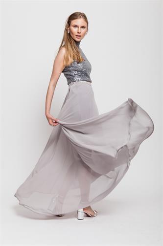 חצאית קווין  אפורה