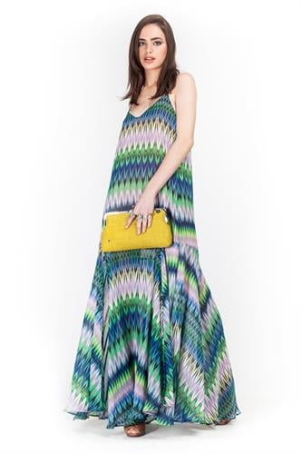 שמלת קלואי צבעוני
