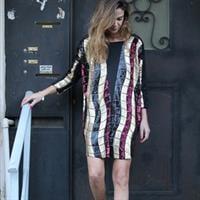 שמלת אלכסנדרה צבעוני