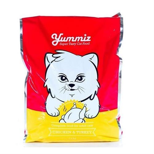 """יאמיז אוכל לחתולים עוף והודו 7.2 ק""""ג"""