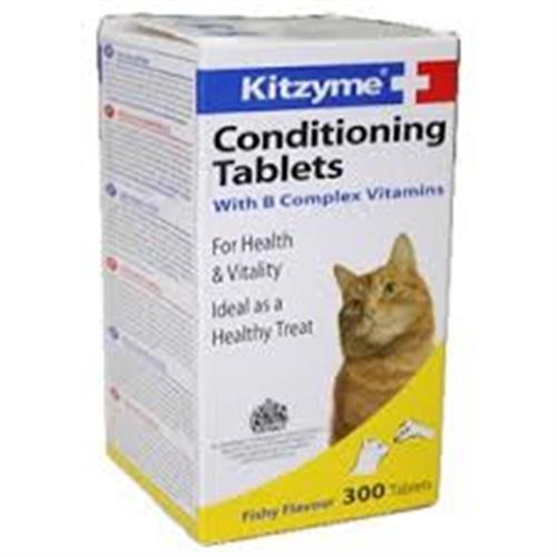 קומפלקס ויטמינים לחתול 300 טבליות (kitzyme+)