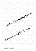 Butterfly and flower shape plastic Stencils Mat for Chocolate