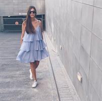 שמלת צ'צ'ה תכלת