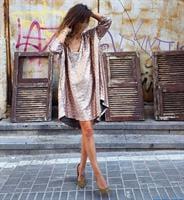 שמלת פייטים קווין פודרה