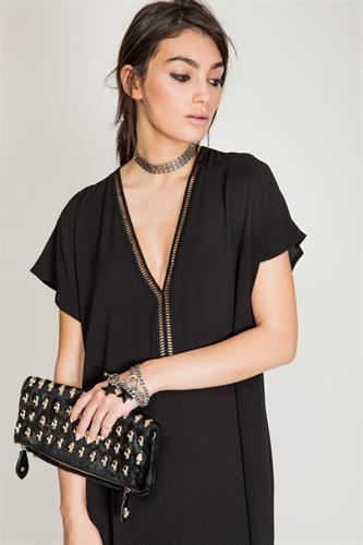 שמלת ריזורט שחור