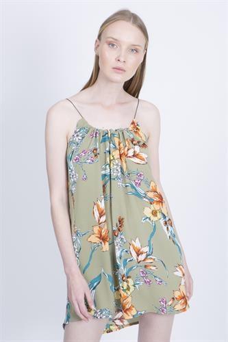 שמלת איב פרחוני ירוק