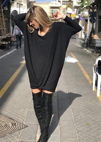 שמלת אלכסה שחורה