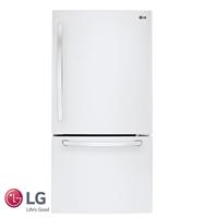 LG מקרר מקפיא תחתון 631 ליטר דגם: GM-650W לבן