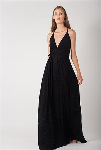 שמלת אנג'ל שחור לורקס