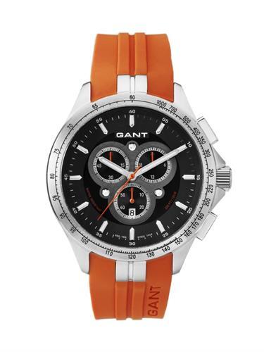 שעון יד אנלוגי גברים רצועת סיליקון כתומה GANT W10854
