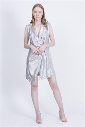 שמלת קים כסף טקסטורה