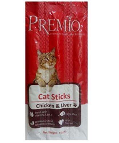 פרמיו סטיקס לחתול עוף וכבד 15 גרם
