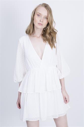 שמלת מורגן לבנה