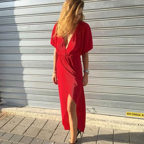 שמלת אלין אדומה