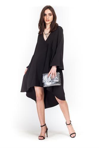 שמלה סלסט שחורה
