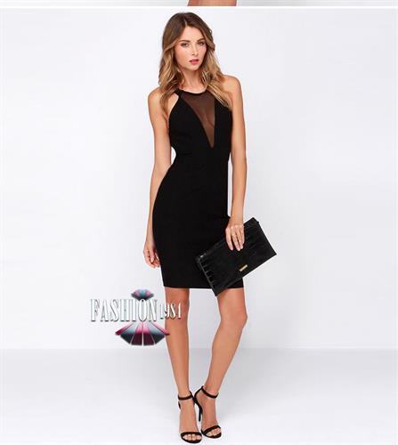 שמלת מידי מעוצבת דגם אשלי (צבע שחור)