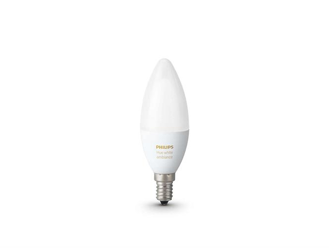 The New Philips Hue White ambiance Candle Single bulb E14