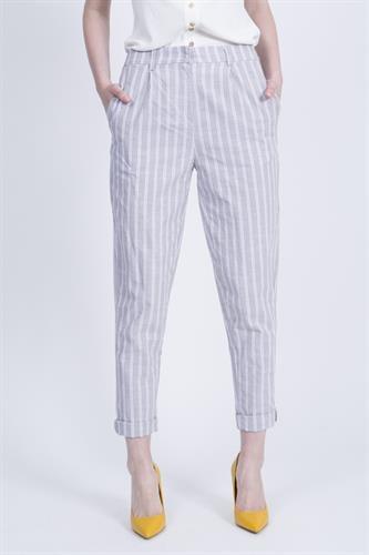 מכנסיים מליסה פסים קאמל