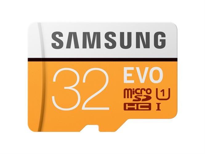 כרטיס זיכרון  MicroSDHC samsung EVO Memory Card Adapter 32GB