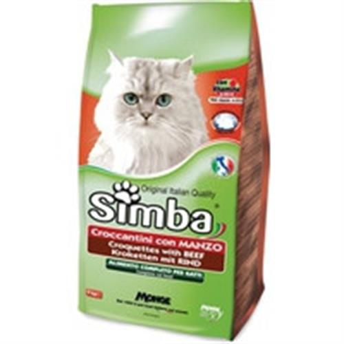 """מזון לחתולים 20 ק""""ג סימבה בשר ועוף"""
