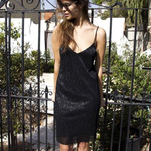 שמלת קזינו שחורה